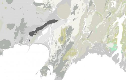 Vistgerðir litsettar eftir flokkum, til notkunar í kortagerð.